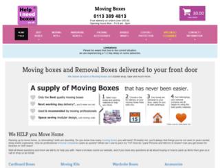 helpineedboxes.co.uk screenshot