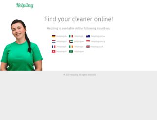 helpling.com.br screenshot