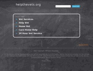 helpthevets.org screenshot