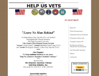 helpusvets.org screenshot