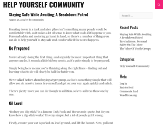 helpyourselfcommunity.org screenshot