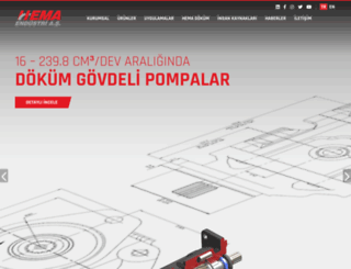 hemaendustri.com.tr screenshot