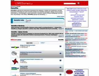 hemofilia.medserwis.pl screenshot