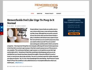 hemorrhoidshelp.net screenshot