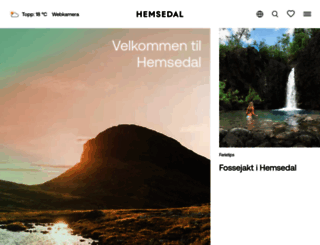 hemsedal.com screenshot