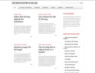 hemsideprogram.se screenshot