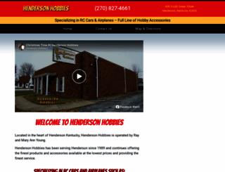 hendersonhobbies.com screenshot
