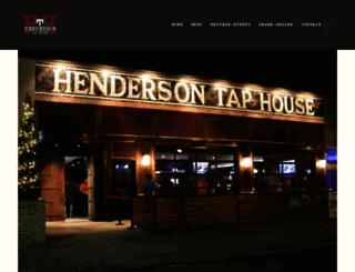 hendersontaphouse.com screenshot