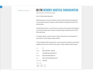 hendrysimanjuntak.com screenshot