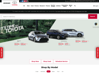 heninger.toyota.ca screenshot
