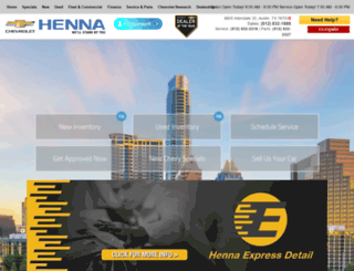 hennachevyaustin.com screenshot