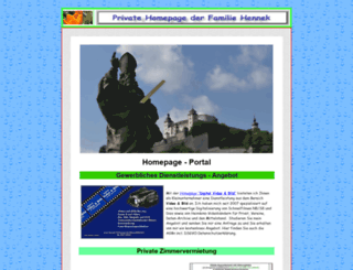 hennek-homepage.de screenshot