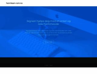 henriksen-rom.no screenshot