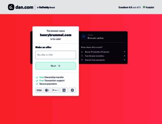 henrybrummel.com screenshot