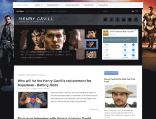 henrycavill.org screenshot