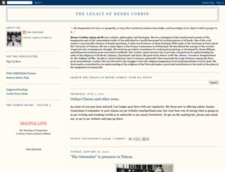 henrycorbinproject.blogspot.com screenshot