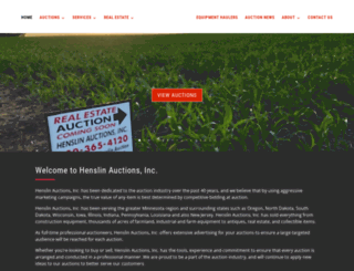 henslinauctions.com screenshot