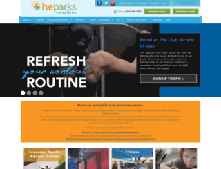 heparks.org screenshot