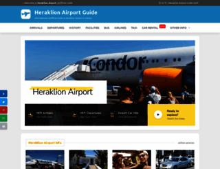 heraklion-airport.info screenshot