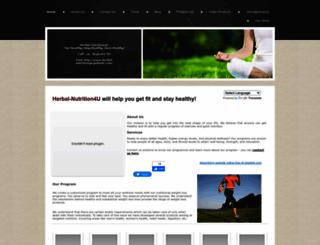 herbal-nutrition4u.yolasite.com screenshot