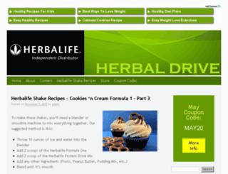 herbaldrive.com screenshot