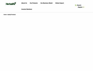 herbalifescience.com screenshot