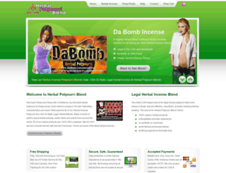 herbalpotpourriblend.com screenshot