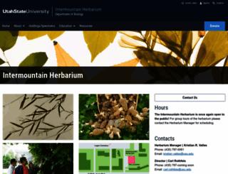 herbarium.usu.edu screenshot