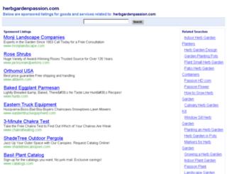 herbgardenpassion.com screenshot