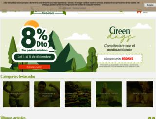 herbolariosaludnatural.com screenshot