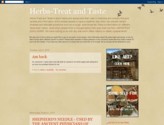 herbs-treatandtaste.blogspot.ca screenshot