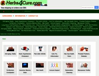 herbs4cure.com screenshot
