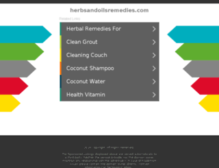 herbsandoilsremedies.com screenshot