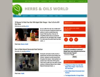herbsandoilsworld.com screenshot