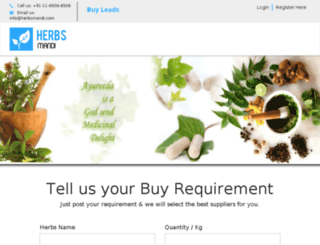 herbsmandi.com screenshot