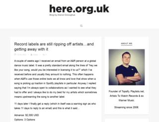 here.org.uk screenshot