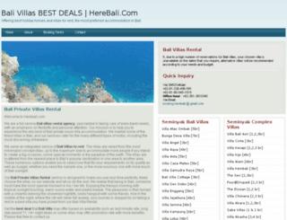 herebali.com screenshot