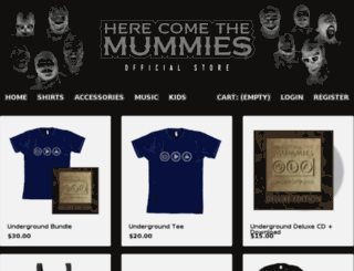 herecomethemummies.gomerch.com screenshot
