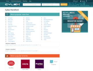 hereford.cylex-uk.co.uk screenshot