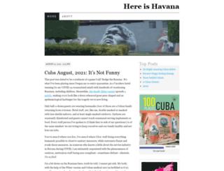 hereishavana.wordpress.com screenshot
