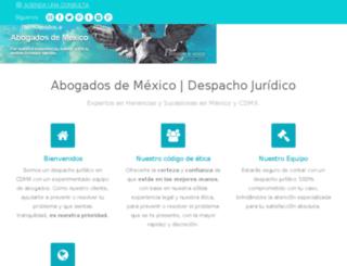 herenciasysucesionesmexico.com screenshot
