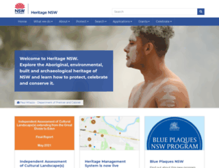 heritage.nsw.gov.au screenshot