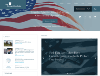 heritage.org screenshot