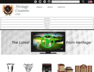 heritagecreationsusa.com screenshot