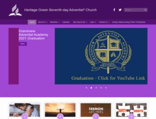 heritagegreenadventist.org screenshot