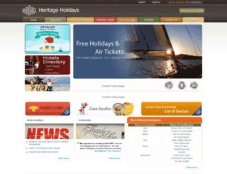 heritageholidaysindia.com screenshot