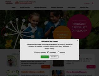 heritageinschools.ie screenshot
