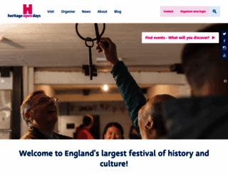 heritageopendays.org.uk screenshot
