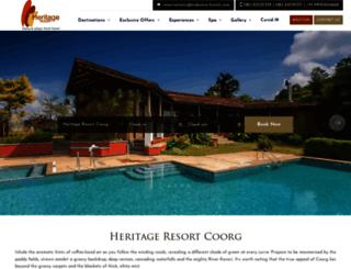 heritageresortcoorg.com screenshot