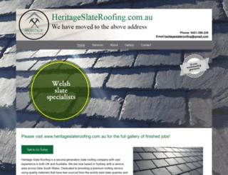 heritageslateroofing.com screenshot